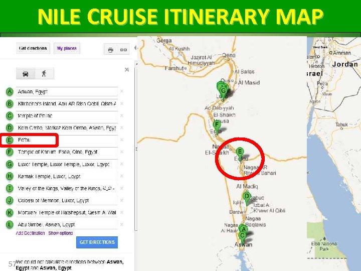 NILE CRUISE ITINERARY MAP 57