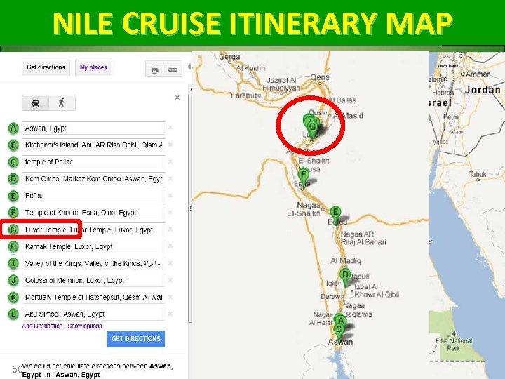 NILE CRUISE ITINERARY MAP 60