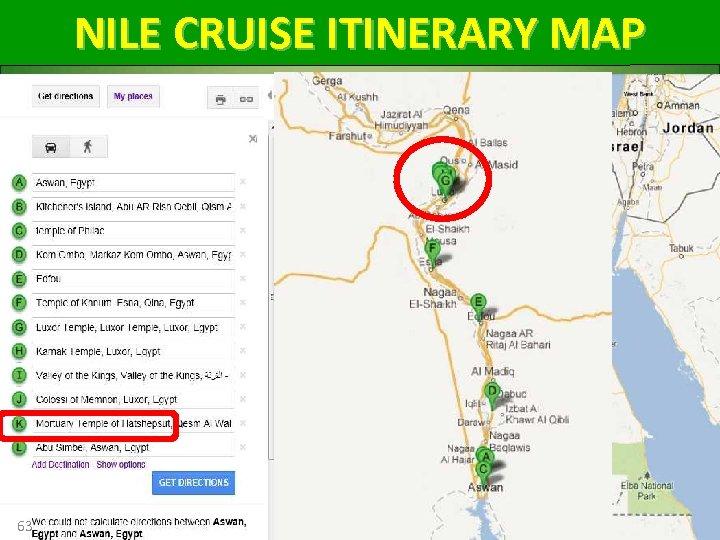 NILE CRUISE ITINERARY MAP 63