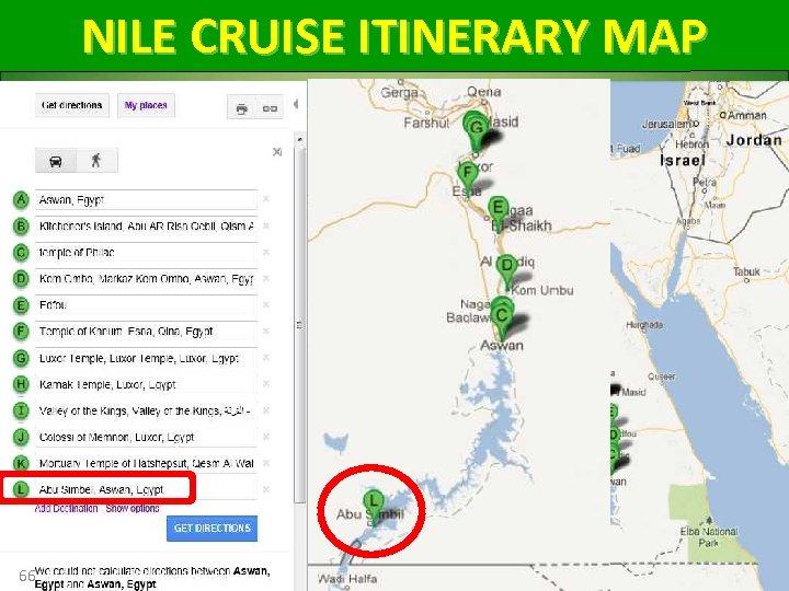 NILE CRUISE ITINERARY MAP 66