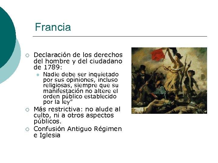 Francia ¡ Declaración de los derechos del hombre y del ciudadano de 1789: l