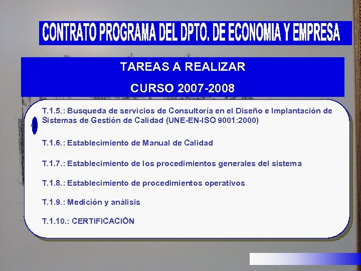 TAREAS A REALIZAR CURSO 2007 -2008 T. 1. 5. : Busqueda de servicios de