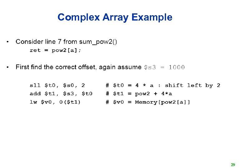 Complex Array Example 29