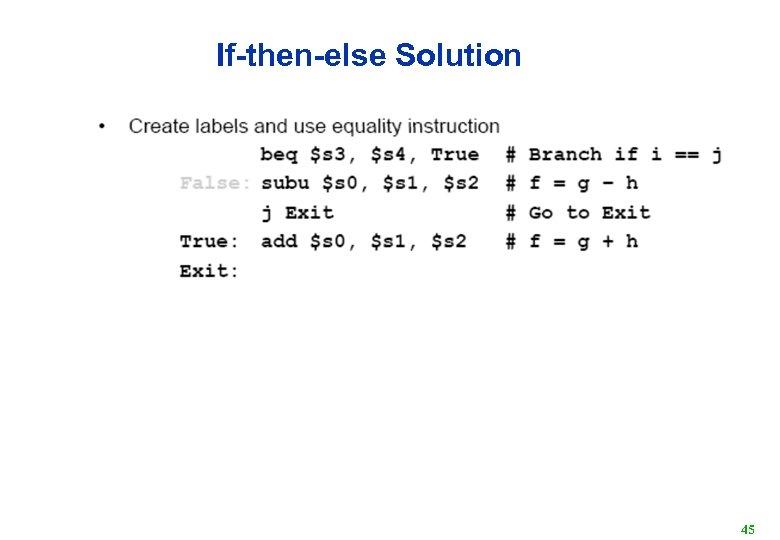 If-then-else Solution 45