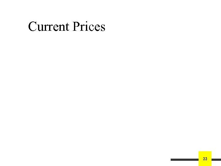 Current Prices 22