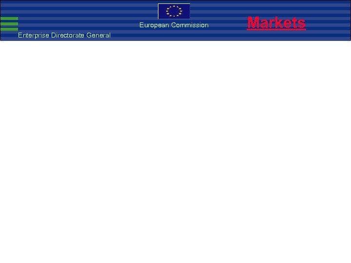 European Commission Enterprise Directorate General Markets