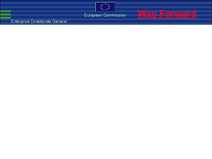 European Commission Enterprise Directorate General Way Forward