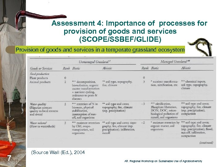 Assessment 4: Importance of processes for provision of goods and services (SCOPE/SSBEF/GLIDE) Provision of