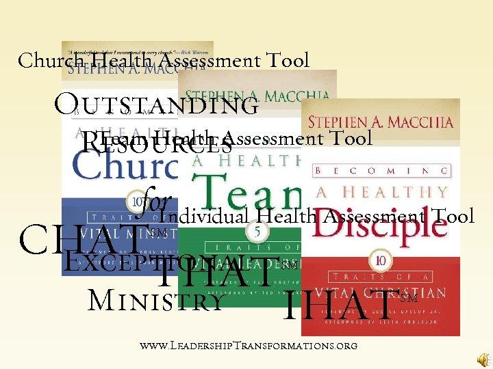 Church Health Assessment Tool Outstanding Team Health Assessment Tool Resources for Individual Health Assessment