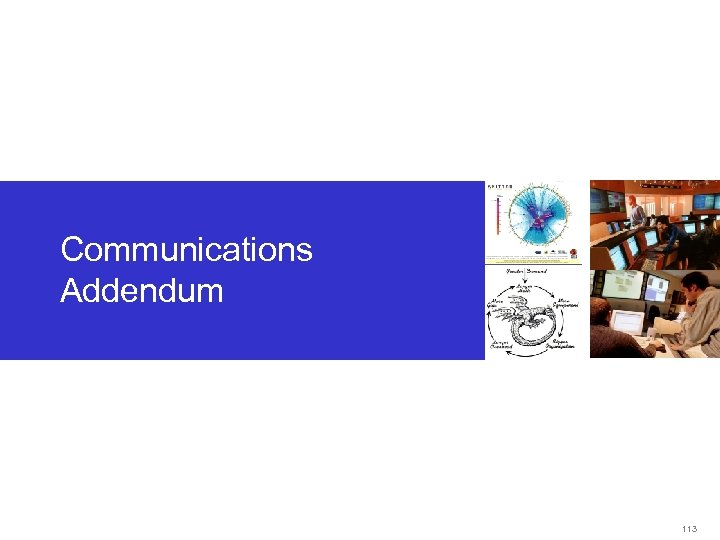 Communications Addendum 113