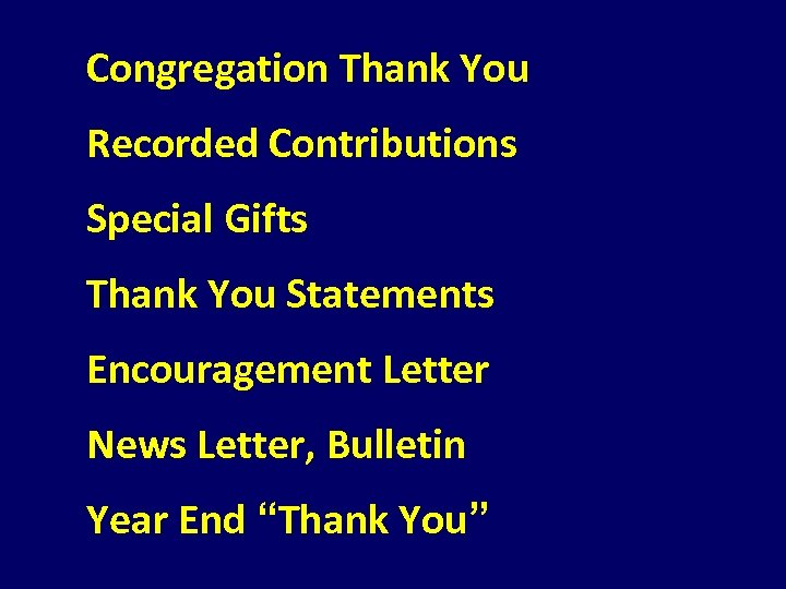 Congregation Thank You Recorded Contributions Special Gifts Thank You Statements Encouragement Letter News Letter,