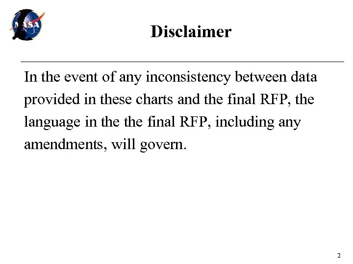 Disclaimer In the event of any inconsistency between data provided in these charts and
