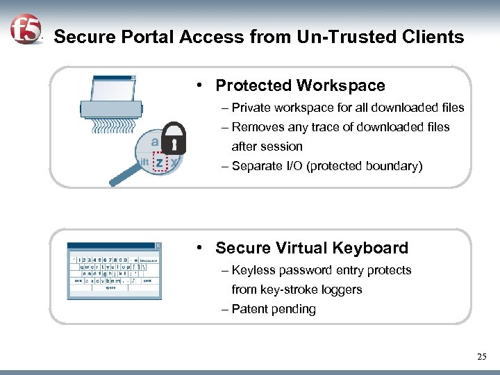 Secure Portal Access from Un-Trusted Clients • Protected Workspace – Private workspace for all