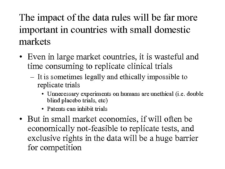 The impact of the data rules will be far more important in countries with
