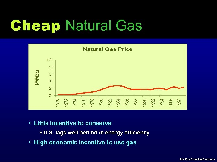 Cheap Natural Gas • Little incentive to conserve § U. S. lags well behind