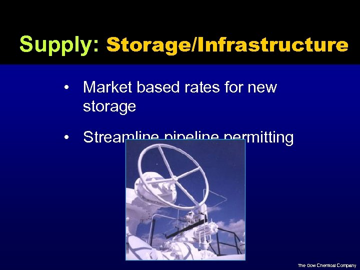 Supply: Storage/Infrastructure • Market based rates for new storage • Streamline pipeline permitting The