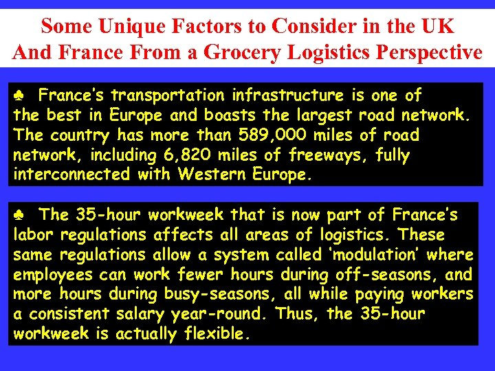 Some Unique Factors to Consider in the UK And France From a Grocery Logistics