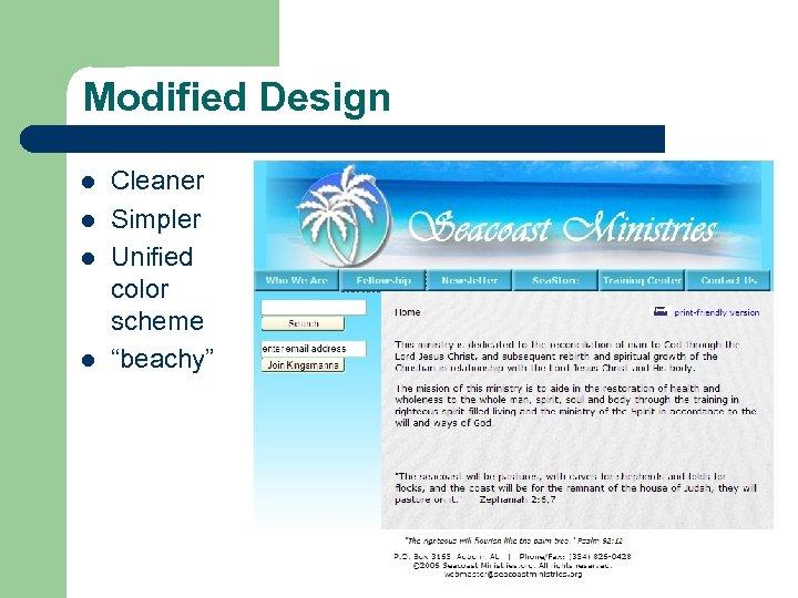 "Modified Design l l Cleaner Simpler Unified color scheme ""beachy"""