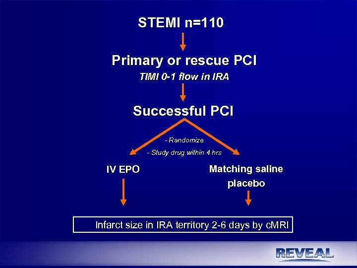 STEMI n=110 Primary or rescue PCI TIMI 0 -1 flow in IRA Successful PCI
