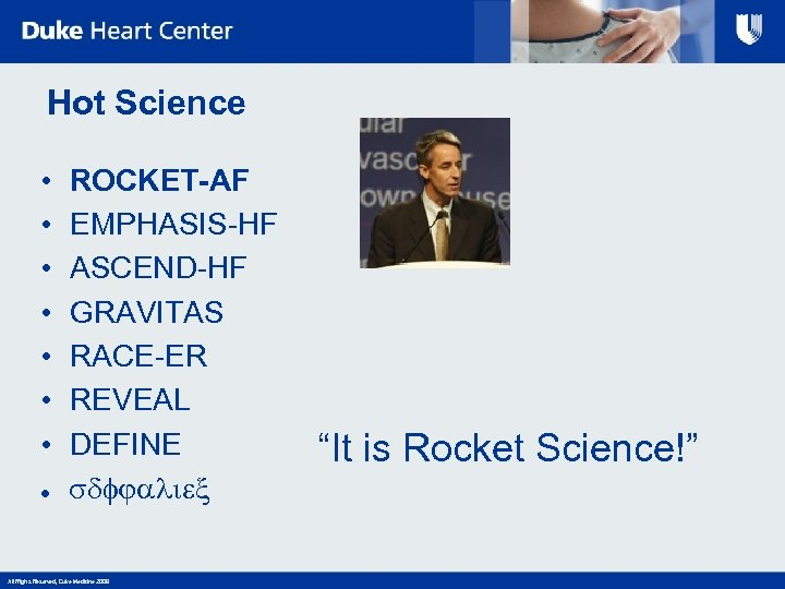 Hot Science • • ● ROCKET-AF EMPHASIS-HF ASCEND-HF GRAVITAS RACE-ER REVEAL DEFINE sdfjaliex All