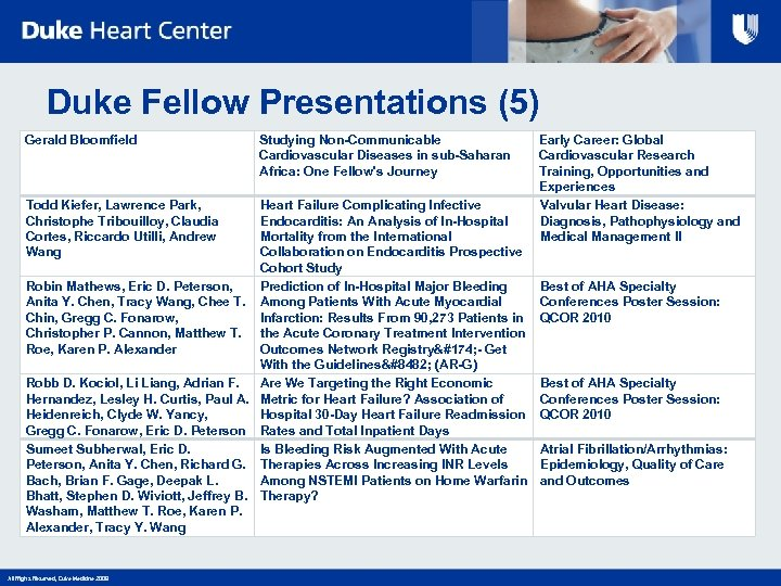 Duke Fellow Presentations (5) Gerald Bloomfield Studying Non-Communicable Cardiovascular Diseases in sub-Saharan Africa: One