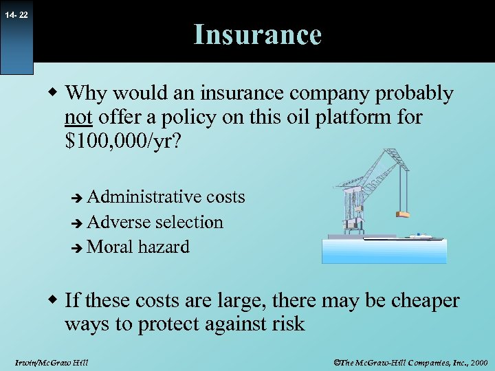 14 - 22 Insurance w Why would an insurance company probably not offer a