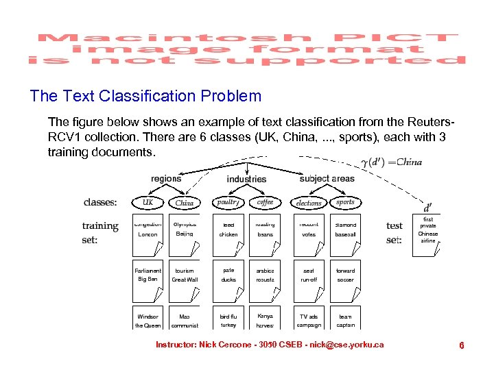 The Text Classification Problem The figure below shows an example of text classification from