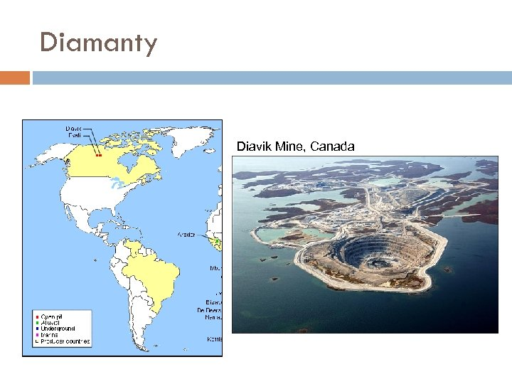 Diamanty Diavik Mine, Canada