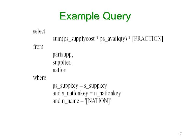 Example Query 17