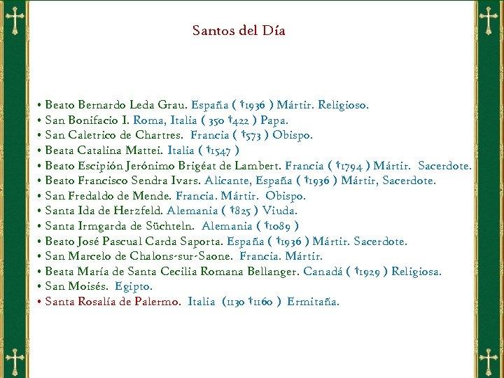 Santos del Día • Beato Bernardo Leda Grau. España ( † 1936 ) Mártir.
