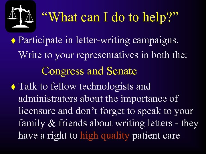 """What can I do to help? "" t Participate in letter-writing campaigns. Write to"