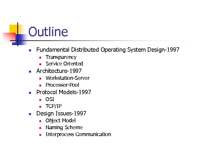 Distributed System Concepts And Architectures 8320 Advanced Operating