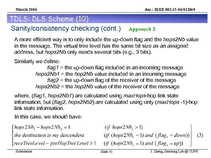 March 2006 doc. : IEEE 802. 15 -06/0128 r 0 TDLS: DLS Scheme (10)