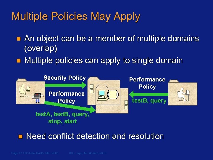 Multiple Policies May Apply n n An object can be a member of multiple