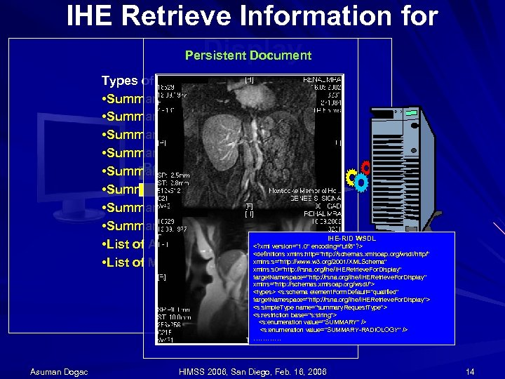 IHE Retrieve Information for Display Persistent Document Types of Requests • Summary of All