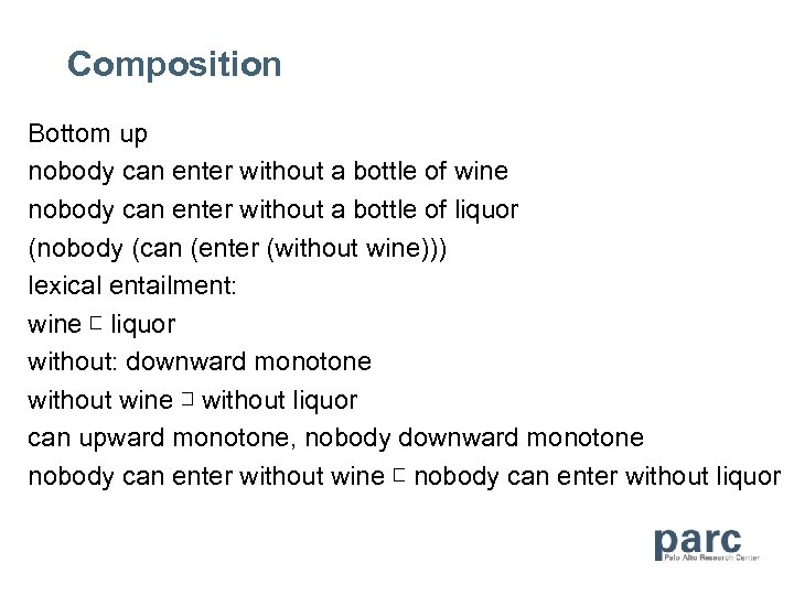 Composition Bottom up nobody can enter without a bottle of wine nobody can enter