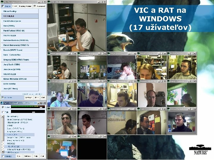 VIC a RAT na Overview of videoconference clients in EVO WINDOWS (17 užívateľov)
