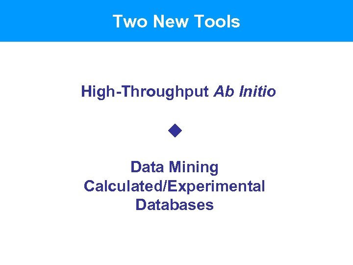 Two New Tools High-Throughput Ab Initio Data Mining Calculated/Experimental Databases