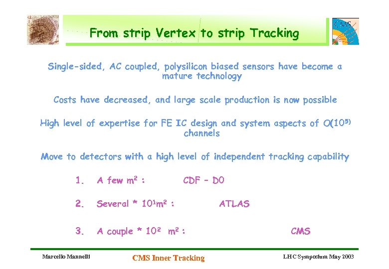 From strip Vertex to strip Tracking Single-sided, AC coupled, polysilicon biased sensors have become
