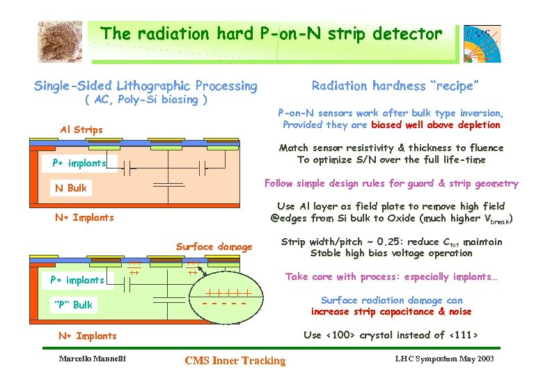 The radiation hard P-on-N strip detector Single-Sided Lithographic Processing ( AC, Poly-Si biasing )