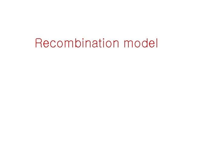 Recombination model
