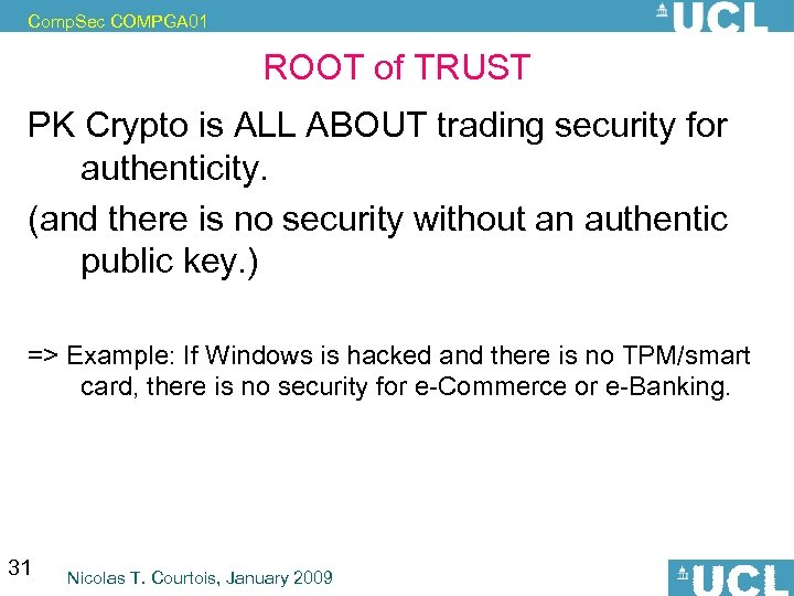 Comp. Sec COMPGA 01 ROOT of TRUST PK Crypto is ALL ABOUT trading security