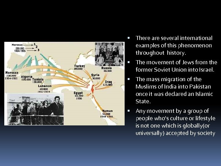 There are several international examples of this phenomenon throughout history. The movement of