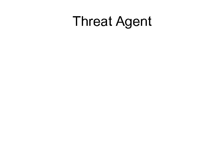 Threat Agent