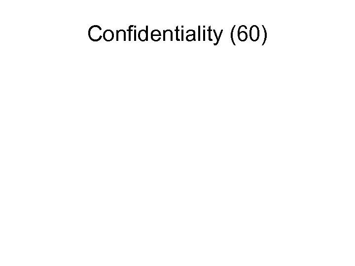 Confidentiality (60)