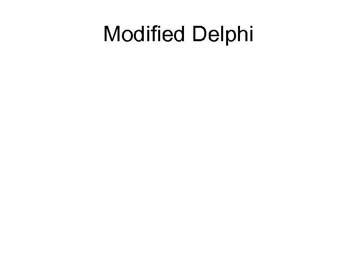 Modified Delphi