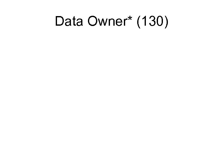 Data Owner* (130)