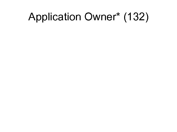 Application Owner* (132)