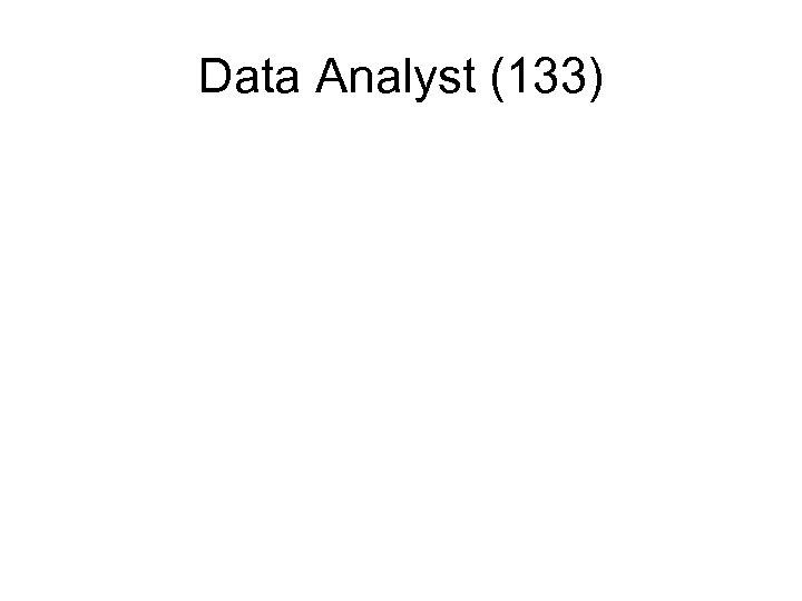 Data Analyst (133)