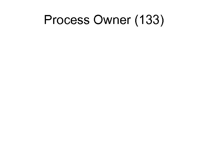 Process Owner (133)